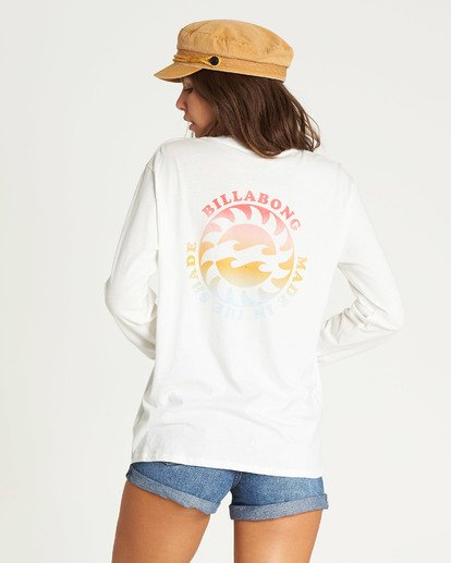 1 Made In The Shade Long Sleeve Tee Beige J446TBMA Billabong