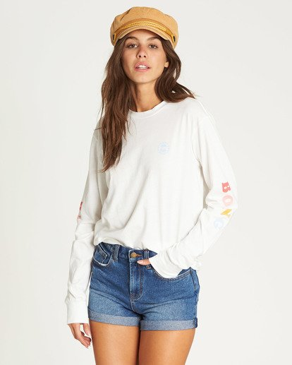 0 Made In The Shade Long Sleeve Tee Beige J446TBMA Billabong