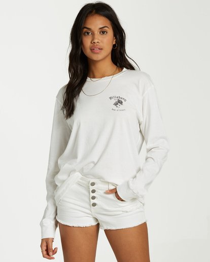 0 Dept Of Leisure Long Sleeve Tee White J446VBDE Billabong