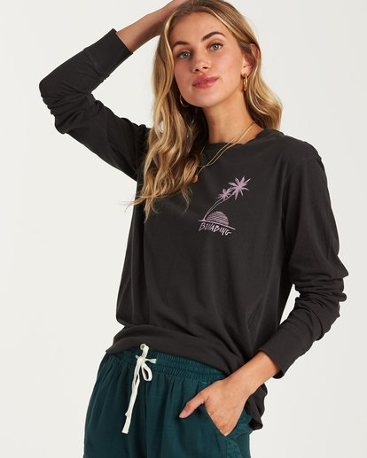 0 Bora Bora Long Sleeve T-Shirt Black J446WBBR Billabong
