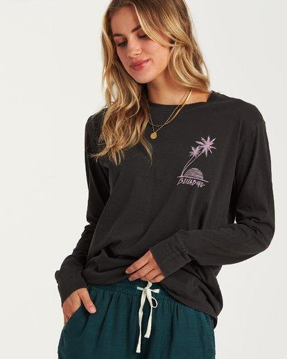 2 Bora Bora Long Sleeve T-Shirt Black J446WBBR Billabong