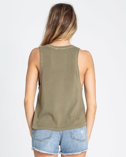 2 Cali Vibes Muscle Tee Green J456TBCA Billabong