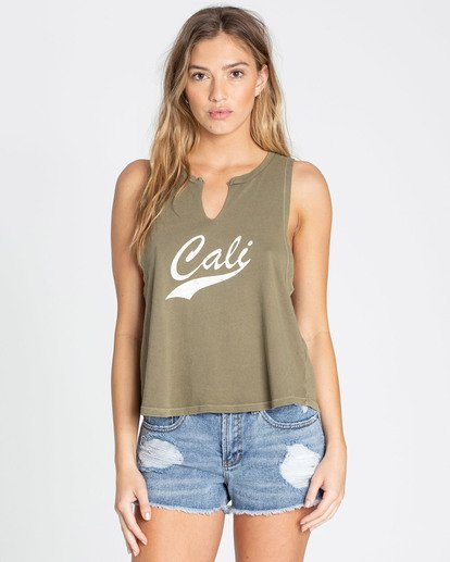 0 Cali Vibes Muscle Tee Green J456TBCA Billabong