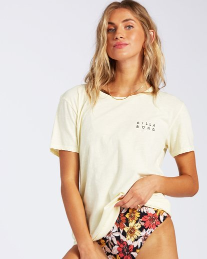 1 Flower T-Shirt Yellow J4671FEC Billabong