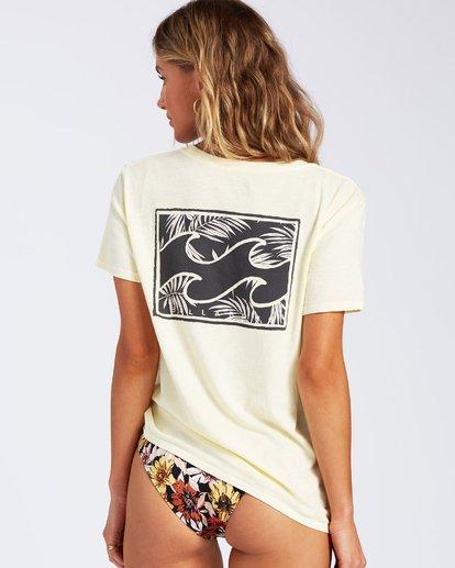 2 Flower T-Shirt Yellow J4671FEC Billabong