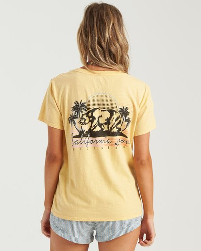 2 Love Cali Bear T-Shirt Grey J4673BLO Billabong