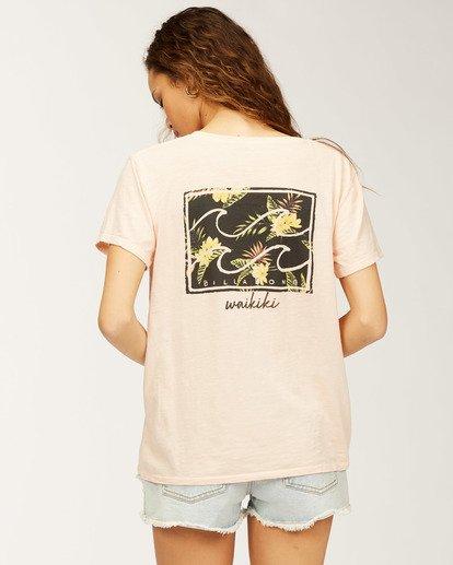 2 Waikiki Flower T-Shirt Multicolor J4673FWI Billabong