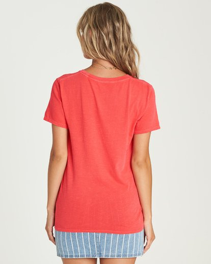 2 Babe All Day T-Shirt Red J467UBBA Billabong
