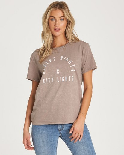 1 City Lights T-Shirt Beige J467WBCI Billabong