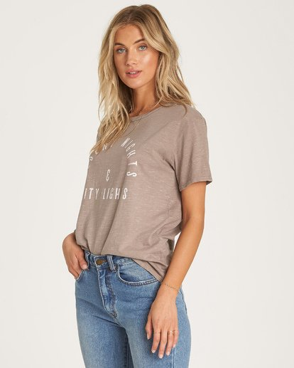 2 City Lights T-Shirt Beige J467WBCI Billabong