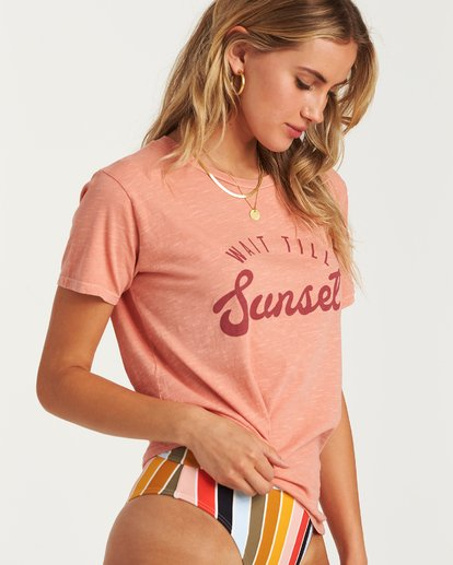 1 Wait Till Sunset T-Shirt Orange J467WBWA Billabong