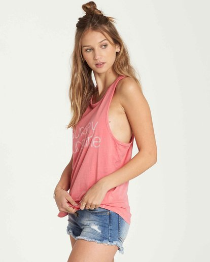 1 Sunday Sunshine Tank Pink J479QBSU Billabong