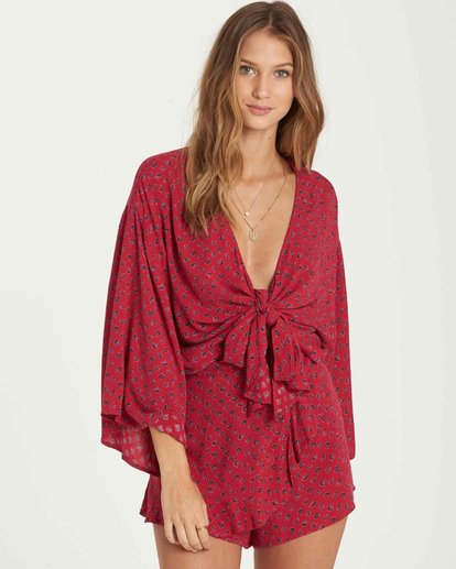 0 Knot Yours Wrap Top Red J502QBKN Billabong