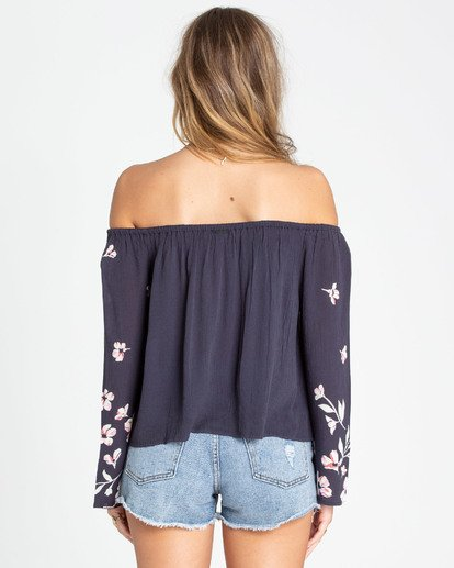 3 Light It Up Off-The-Shoulder Top Black J503TBLI Billabong
