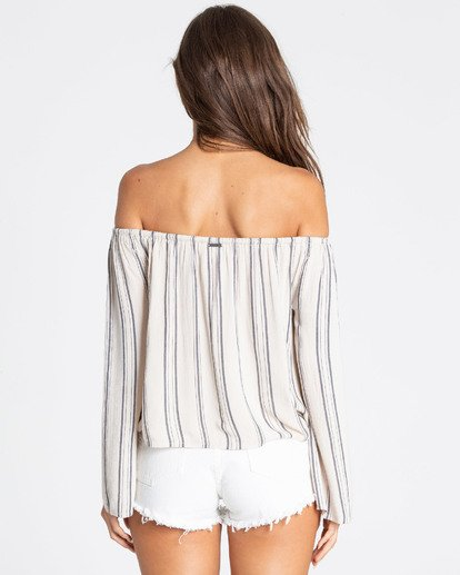 2 Light It Up Off-The-Shoulder Top White J503TBLI Billabong