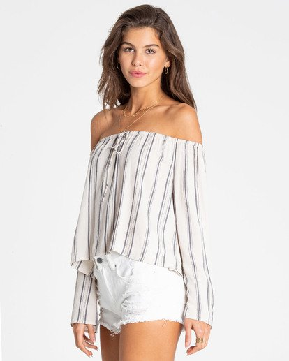 1 Light It Up Off-The-Shoulder Top White J503TBLI Billabong