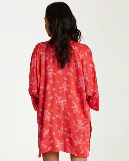 2 Kola Kimono Top Red J506VBKO Billabong