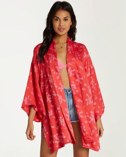 0 Kola Kimono Top Red J506VBKO Billabong