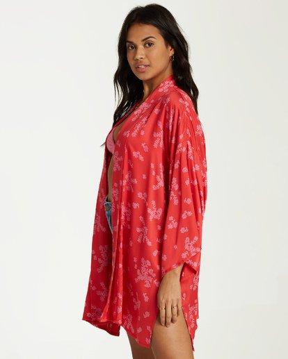 1 Kola Kimono Top Red J506VBKO Billabong