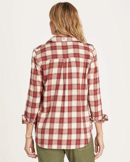 2 Venture Out Long Sleeve Flannel Shirt Brown J507MVEN Billabong