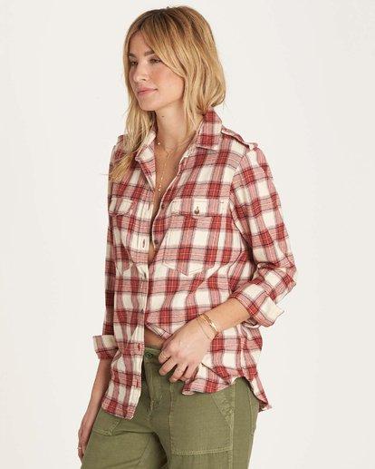 1 Venture Out Long Sleeve Flannel Shirt Brown J507MVEN Billabong