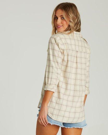 2 Venture Out Long Sleeve Flannel Shirt White J507MVEN Billabong