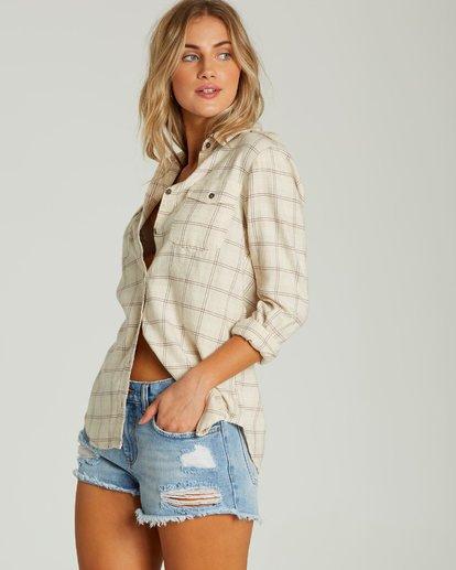 1 Venture Out Long Sleeve Flannel Shirt White J507MVEN Billabong