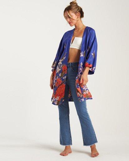 4 Paradise Nights Kimono Blue J507WBPS Billabong