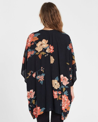 3 Moon Dream Printed Kimono Black J512SBMO Billabong