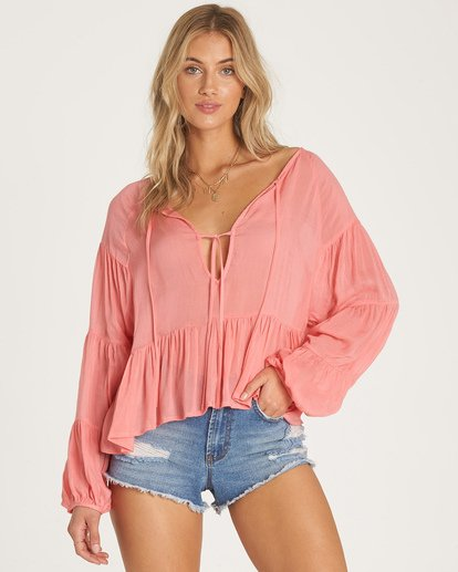 0 By The Sea Top Orange J519WBBY Billabong