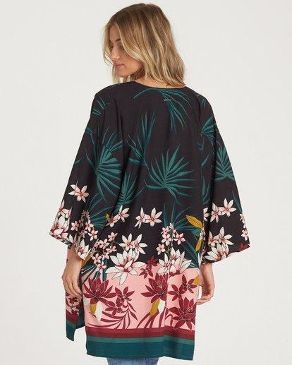 2 Paradise Palms Kimono Top Black J520WBPA Billabong