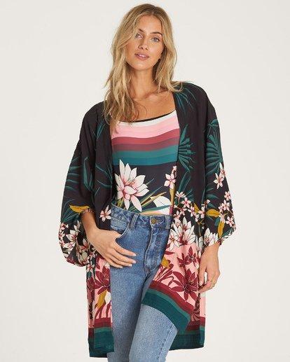 1 Paradise Palms Kimono Top Black J520WBPA Billabong