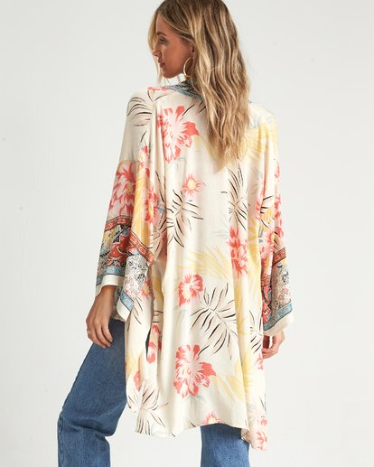 6 Fire Nights Kimono Top White J521SBFI Billabong