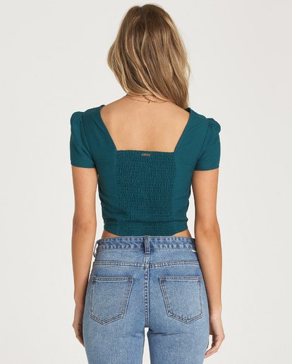 4 Something Special Top Green J522WBSO Billabong