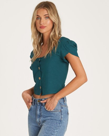 2 Something Special Top Green J522WBSO Billabong