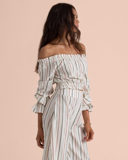 3 Sincerely Jules Tulum Weathers Off-The-Shoulder Top  J534TBTU Billabong