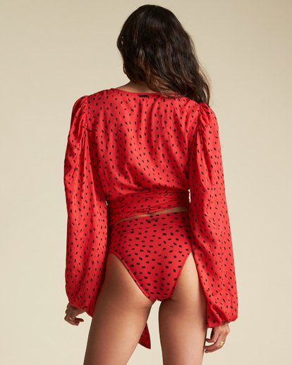 5 Sincerely Jules Wrapped In Love Top Red J5461BWR Billabong