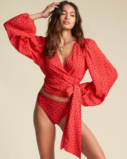 2 Sincerely Jules Wrapped In Love Top Red J5461BWR Billabong