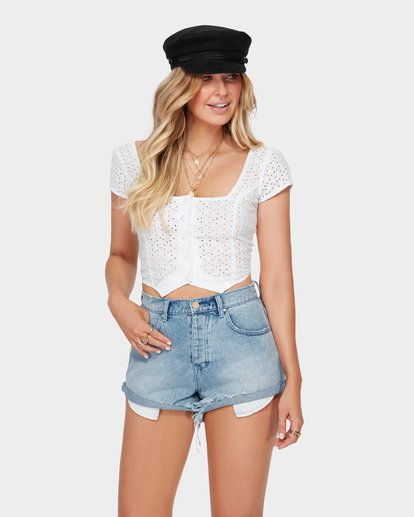1 Stealing Beauty Top White J563SBST Billabong
