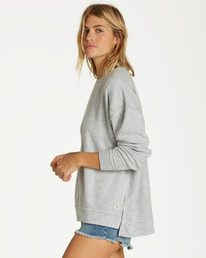 1 Three Day Weekend Crew Sweatshirt Grey J602VBTH Billabong