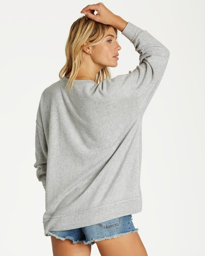 2 Three Day Weekend Crew Sweatshirt Grey J602VBTH Billabong