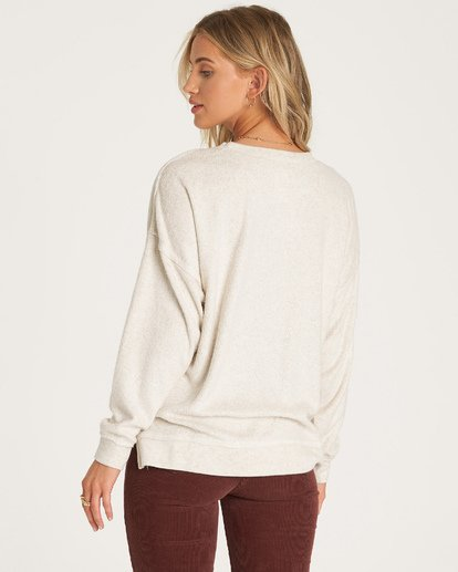 2 Three Day Weekend Crew Sweatshirt White J602VBTH Billabong