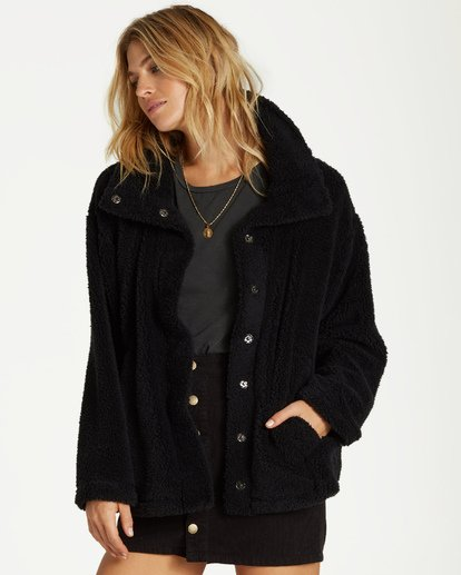 3 Cozy Days Sherpa Jacket Black J604SBCO Billabong