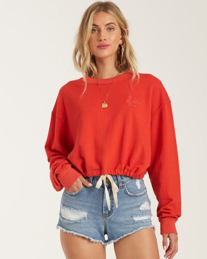 0 Faded In The Sun Sweatshirt Red J604UBFA Billabong