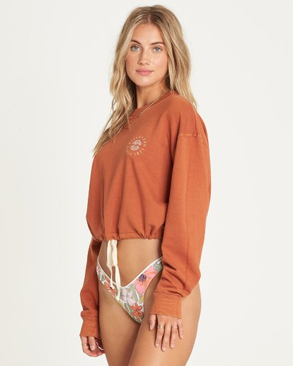 2 Faded In The Sun Sweatshirt Brown J604UBFA Billabong