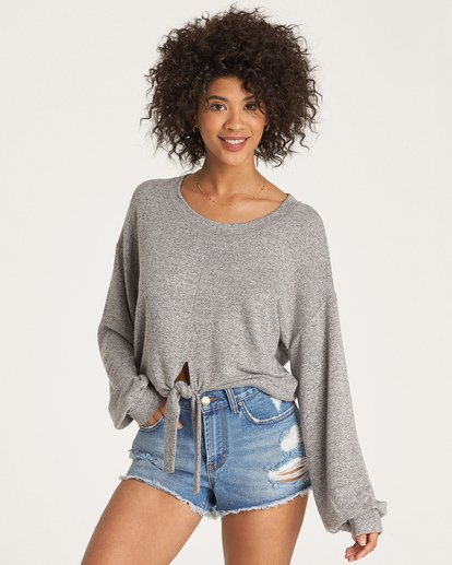 0 All Tied Up Pullover Grey J605WBAL Billabong