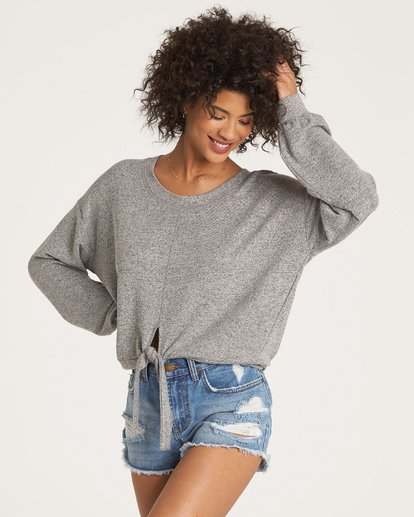 1 All Tied Up Pullover Grey J605WBAL Billabong