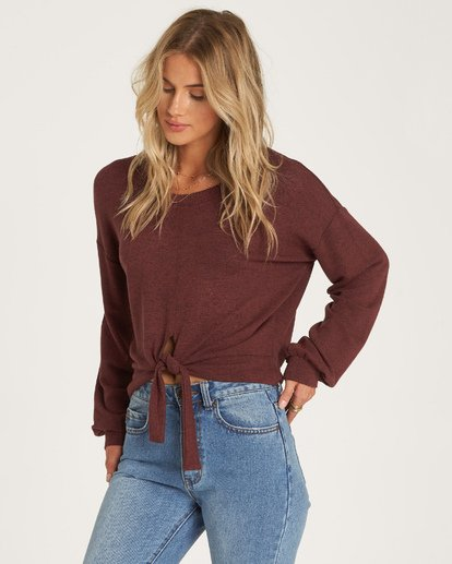 1 All Tied Up Pullover Purple J605WBAL Billabong