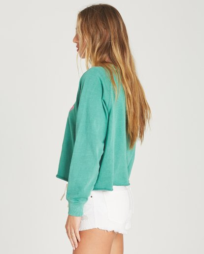 1 Shore Waves Cropped Sweatshirt Green J608TBSH Billabong