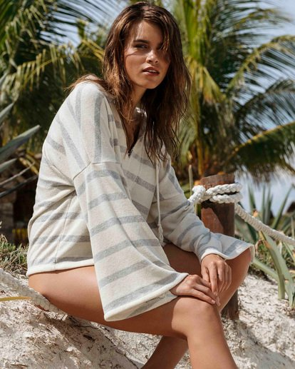 0 Lazy Palms Hoodie White J609TBLA Billabong